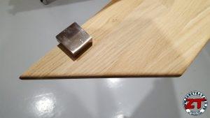 Fabriquer installer étagères chêne massif