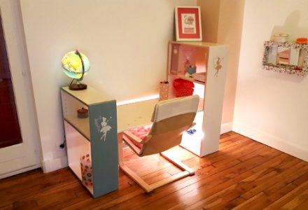 Tuto DIY table ecolier evolutive rangement